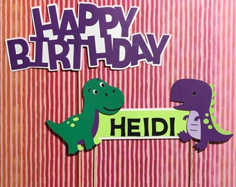 Dinosaur Cake Topper / Dinosaur Happy Birthday Sign / Dinosaurs theme decor / Dinosaurs Party Decorations