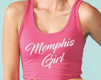 memphis girl women's racerback tank top (next level apparel)  |  tennessee gift