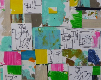 Outsider Art Mixed Media Collage