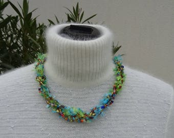 Festif: kumihimo necklace