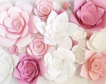 Custom Paper Flower Backdrop- Dessert Table Decor, Wall Decor