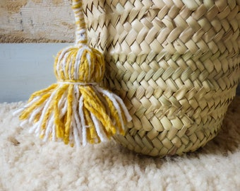 Two-tone handmade cotton tassel