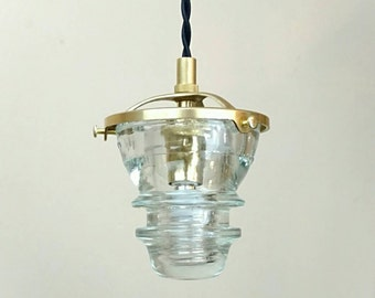 Diy Glass Insulator Pendant Light Kit Diy Insulator Lighting