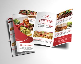 menu brochure design for restaurants, brochure design for catering, brochure design for food, pizza store,  fast food business
