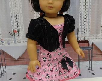 Crossbones Cutie- Sundress & Jacket for American Girl