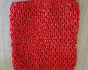 STRETCHY red crochet to create STRAPLESS GOWN 0-16 month TUTU