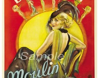 MR02 Vintage Moulin Rouge Movie Poster Print