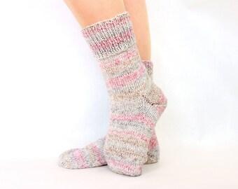 Hand knit socks Winter gift for wife socks Wool knitted socks women Socks for her socks Yarn knitted socks Warm wool socks women Gift mother