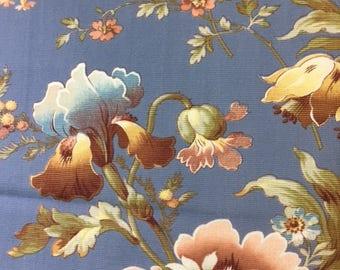 Antique French Botanical Floral Textile