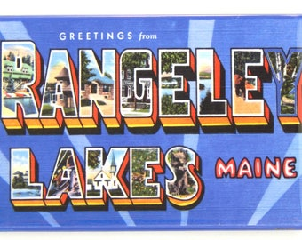 Greetings from Rangeley Lakes Maine Fridge Magnet