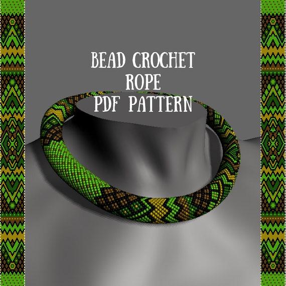 Crochet Rope Pattern Jewelry Pattern Bead Crochet Necklace Pattern