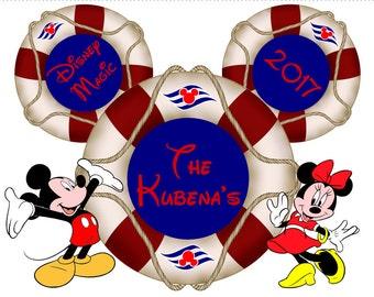 Disney Cruise Magnets for Door, disney cruise line, disney cruise magnet, disney vacation ears, disney door magnet, disney cruise gift, Mick