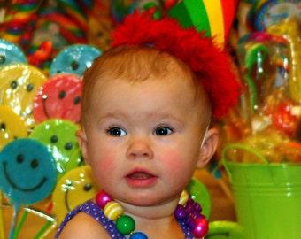 Rainbow Birthday hat
