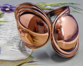 RAMÉ Solid Copper Wide Hinged Disk Bracelet    OCS11