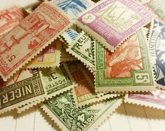 Postage Stamps Grab Bag Stamps Vintage Stamps Vintage Postage Stamps Postage Unused Stamps Collection Unused Vintage Postage Stamps African