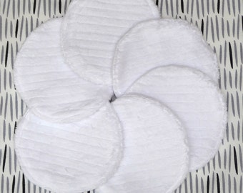 "Reusable Face Pads, 3-3/4"" Makeup Remover Pads, Eco Friendly Skin Care, Facial Rounds, College Student Gift for her, Cotton Rounds, 7 Pads"