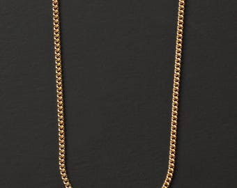 Gold jewelry for men - Gold chain for men - Men's gold necklace - 14 k Gold filled necklace for men - Minimalist chain necklace for men.