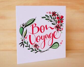 Free printable bon voyage cards kubreforic free printable bon voyage cards hand lettered card etsy free printable bon voyage cards m4hsunfo