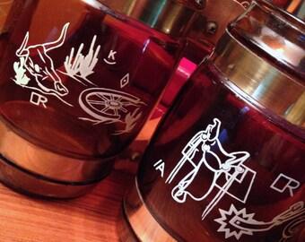 6 SiestaWare beer mugs from the 1960's