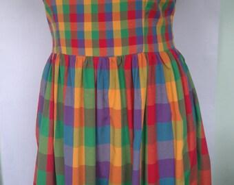 NEW! Multicolour Madras Check Dress Size 18 20 22 24 26 28 30