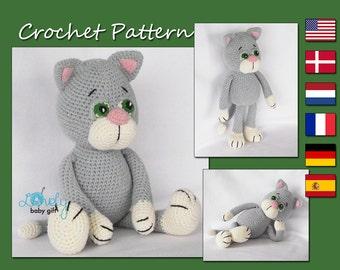 Pdf Crochet Pattern, Amigurumi Pattern, Cat, Animal, Kitty, CP-146