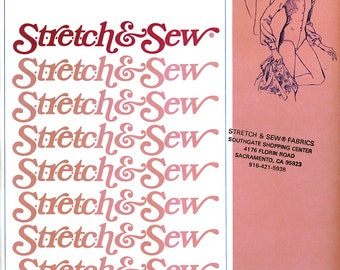 Stretch & Sew 790 Vintage 70s Sewing Pattern for Misses' Body Blouse - Uncut - Bust 28, 30, 32, 34, 36, 38, 40