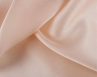 Bisque Silk Satin Organza, Fabric By The Yard