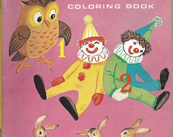 Vintage My 1.2.3 Children's Coloring Book, 1969