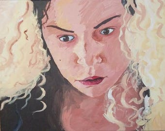 helena acrylic painting, orphan black