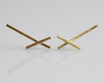 Brass Bar Studs