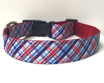 "1"" Patriotic Plaid Collar"
