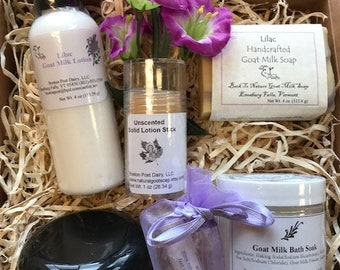 Spa gift set, goat milk soap and lotion gift set, Mother's day gift, relaxing gift, gift for women, gifts for her, gift under 40