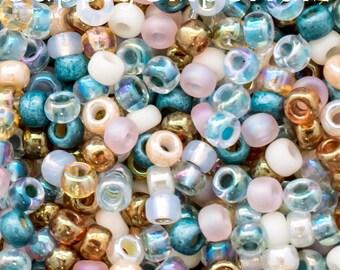 6/0 Miyuki Ocean Breeze Seed Bead Mix - 16 Grams - Miyuki Ocean Breeze 6/0 Mix - Exclusive Mix From SupplyEmporium, 5088