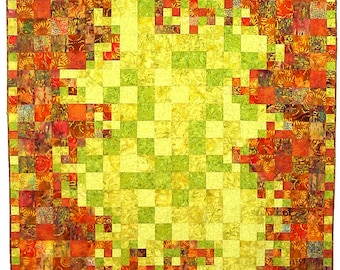 PDF Quilt Pattern, Solar Flare, Easy Quilt Pattern, Instant Download Digital Quilt Pattern
