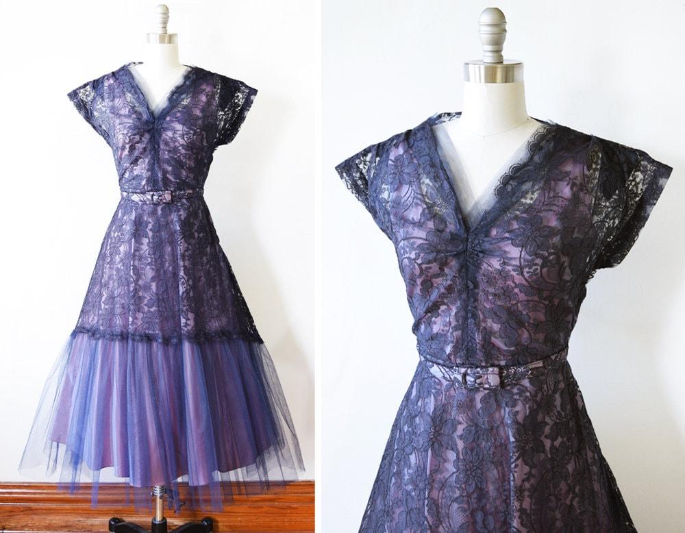 50s purple lace dress vintage 1950s lace party dress 1950s