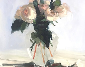 White Roses on White Archival Print by Amy Brnger