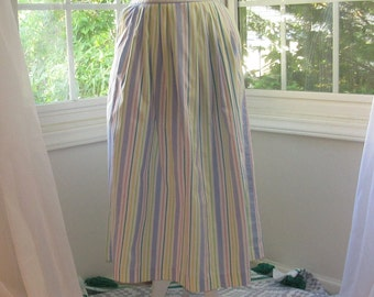 1980s Skirt Pastel and White, Spring and Summer Skirt