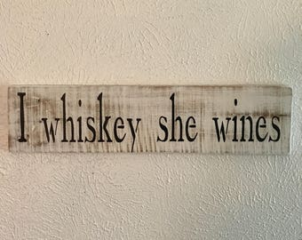 Bar signs, bar accessory signs, wall signs, funny signs, whiskey signs, wine signs, destressed wood signs, bar decor, rustic wood sign