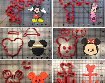 Cartoon Mickey Mouse Cookie Cutter/Custom Made 3D Printed Minnie Cutters/Kitchen Accessories/Cake Decorating Tools/Candy Bar/Fondant Molds