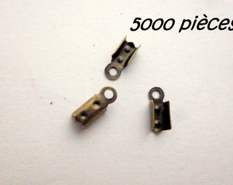 Special offer: 5000 bronze 10mm lace clamp ends