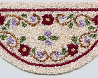 Bunka Rug kits - 1/12th scale - Floral border design, small size.