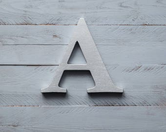 Silver letters wooden letters silver wall decor silver letter decorative wall letters free standing letters