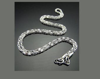 1 necklace snake chain 51cm in silver for pendant jewelry