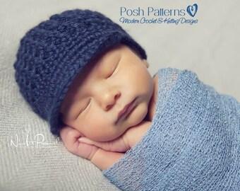Crochet PATTERN - Newsboy Hat Crochet Pattern - Crochet Hat Pattern - Crochet Patterns for Men - Crochet Patterns Babies - 6 Sizes - PDF 178