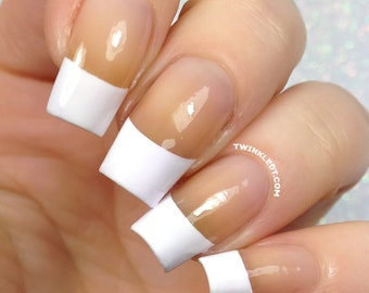 French Tip Slant Nail Vinyls