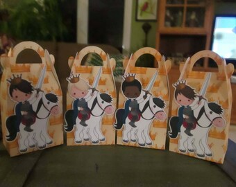 A Prince and His Steed Gable Boxes Set of 28 with Free Shipping