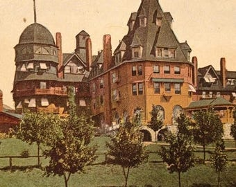 ON SALE Asheville North Carolina NC The Battery Park Hotel Early 1900's Vintage Antique Old Postcard