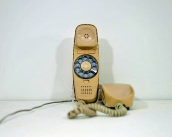 Vintage ITT Rotary Dial Telephone The Trimline Phone Bell System Desk Phone