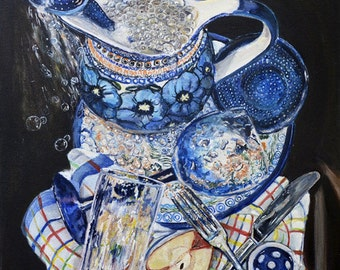 polish pottery kitchen wall art print pottery teapot art