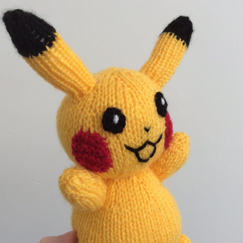 pikachu knitting pattern pokemon doll amigurumi pattern pdf download ...